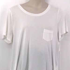 Style & Co Bright White Short Sleeve Tee 2X